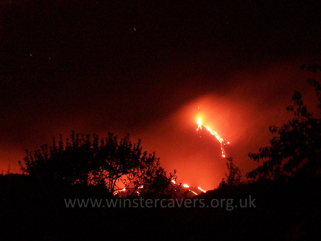 Flank eruption on Mount Etna at night - from Zafferana Etnea