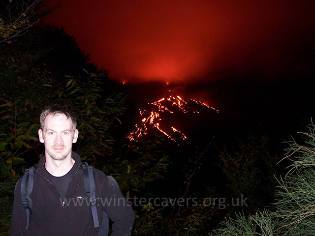 2004 Flank eruption on Mount Etna from Monte Zoccolaro