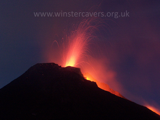 2006 Etna eruption - South East crater at night