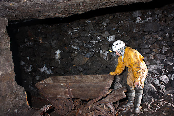 Photo of an ore tub in Carr's level