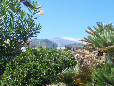Mount Etna viewed from the Piazza in Zafferana Etnea