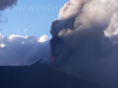 A Hawai'ian-Style Fire Fountain - Eruption from Mount Etna - September 2007
