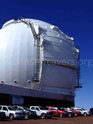 Mauna Kea - one of the William Keck Observatory telescopes - September 2008