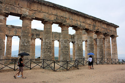 The Greek temple at Segesta