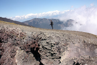 Exploring the craters on the Bottoniera eruption - Mount Etna.