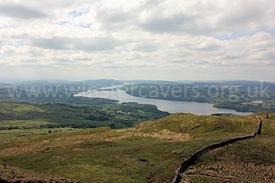 Looking South over Lake Windermere from the summit of Wansfell Pike