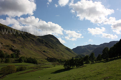 The long walk out along Grisedale Beck