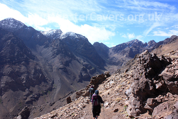 The Toubkal valley, with this years' first snow